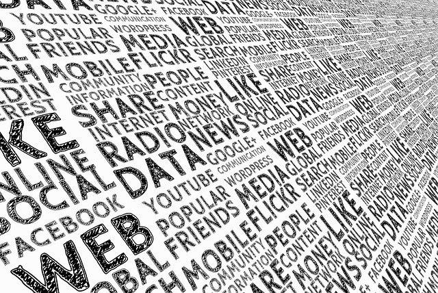 zeď s populárními weby