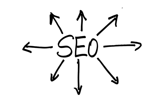 jednoduchý nápis se šipkami